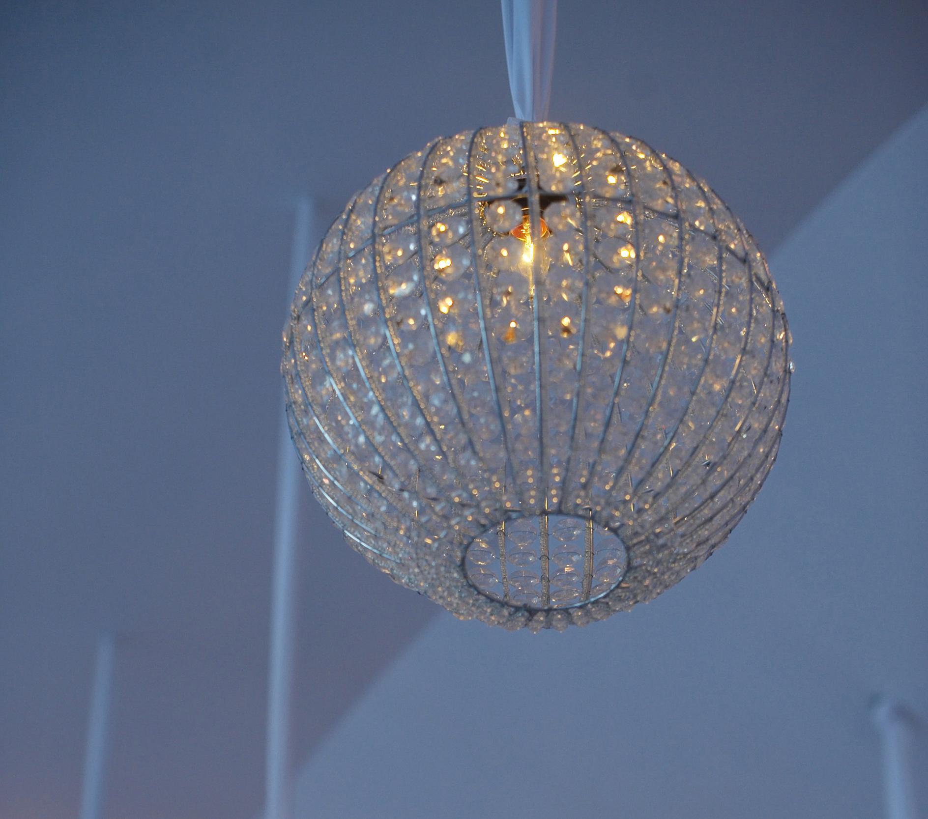 crystal globe lighting fixture