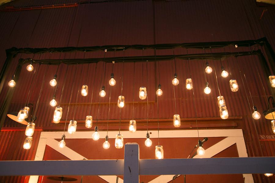 lightbulbs hung from ceiling