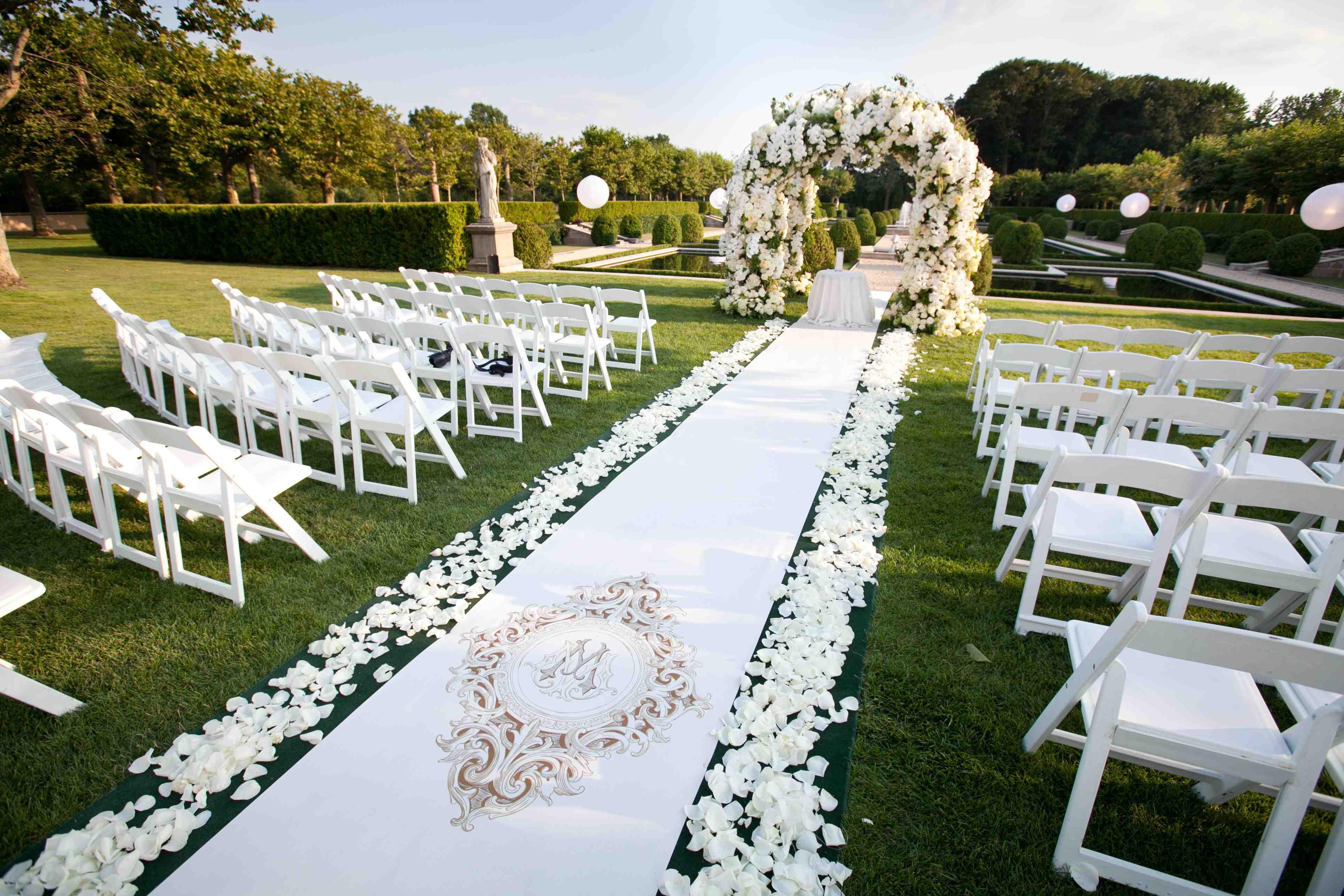 Beautiful Ceremony Structures Enveloped With Flowers
