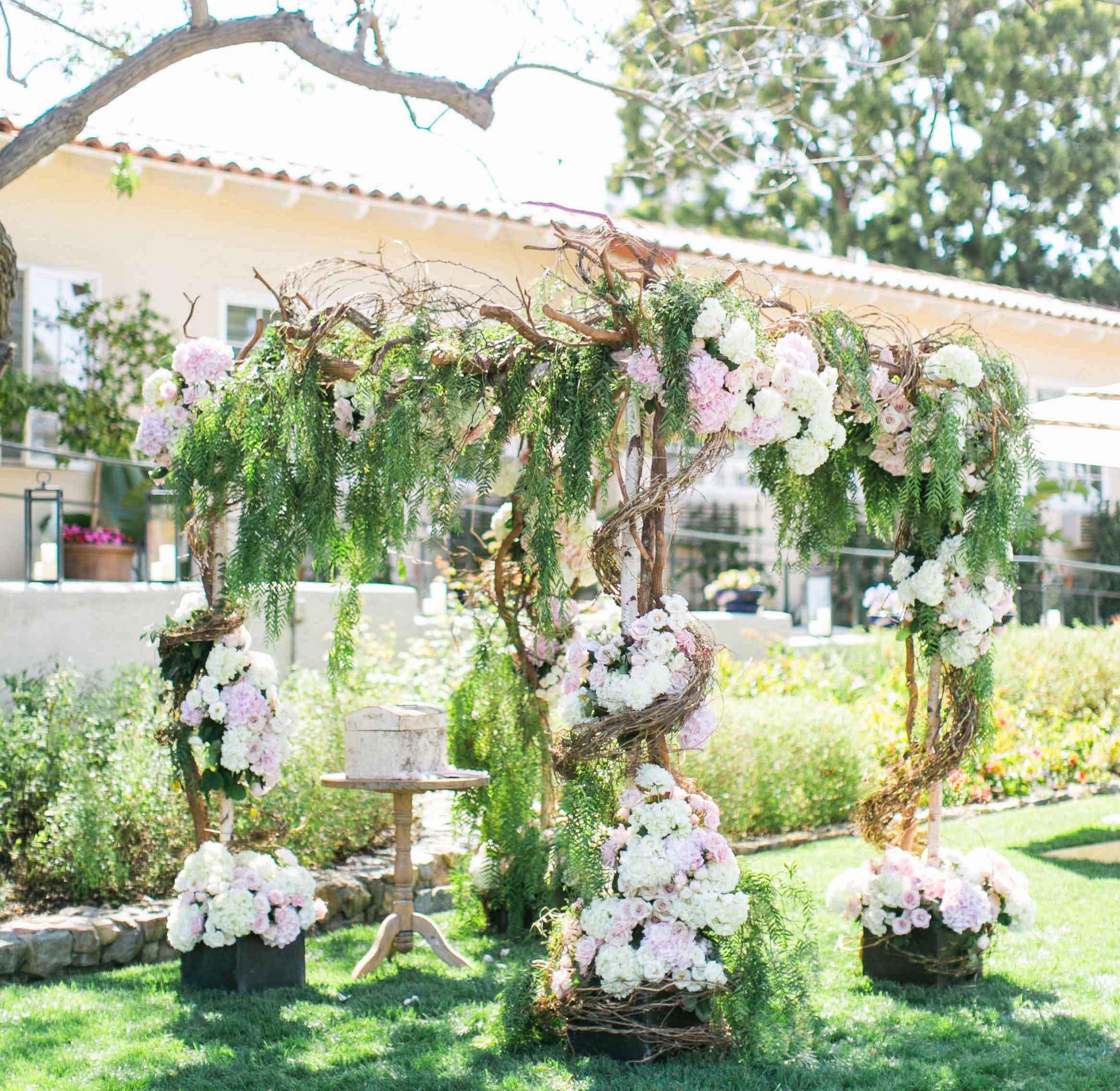 Rancho Santa Fe outdoor wedding ceremony