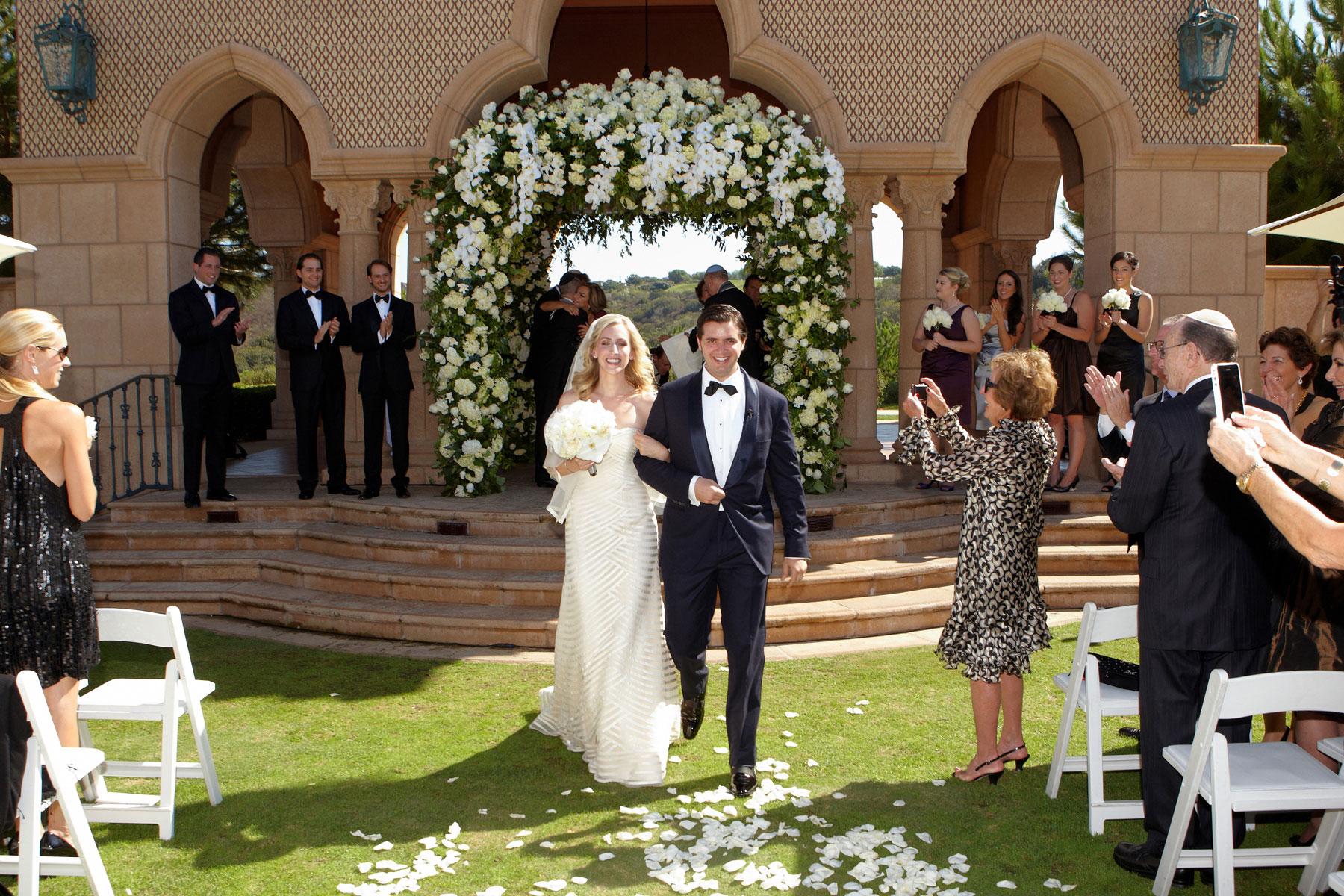 Grand Del Mar outdoor wedding ceremony