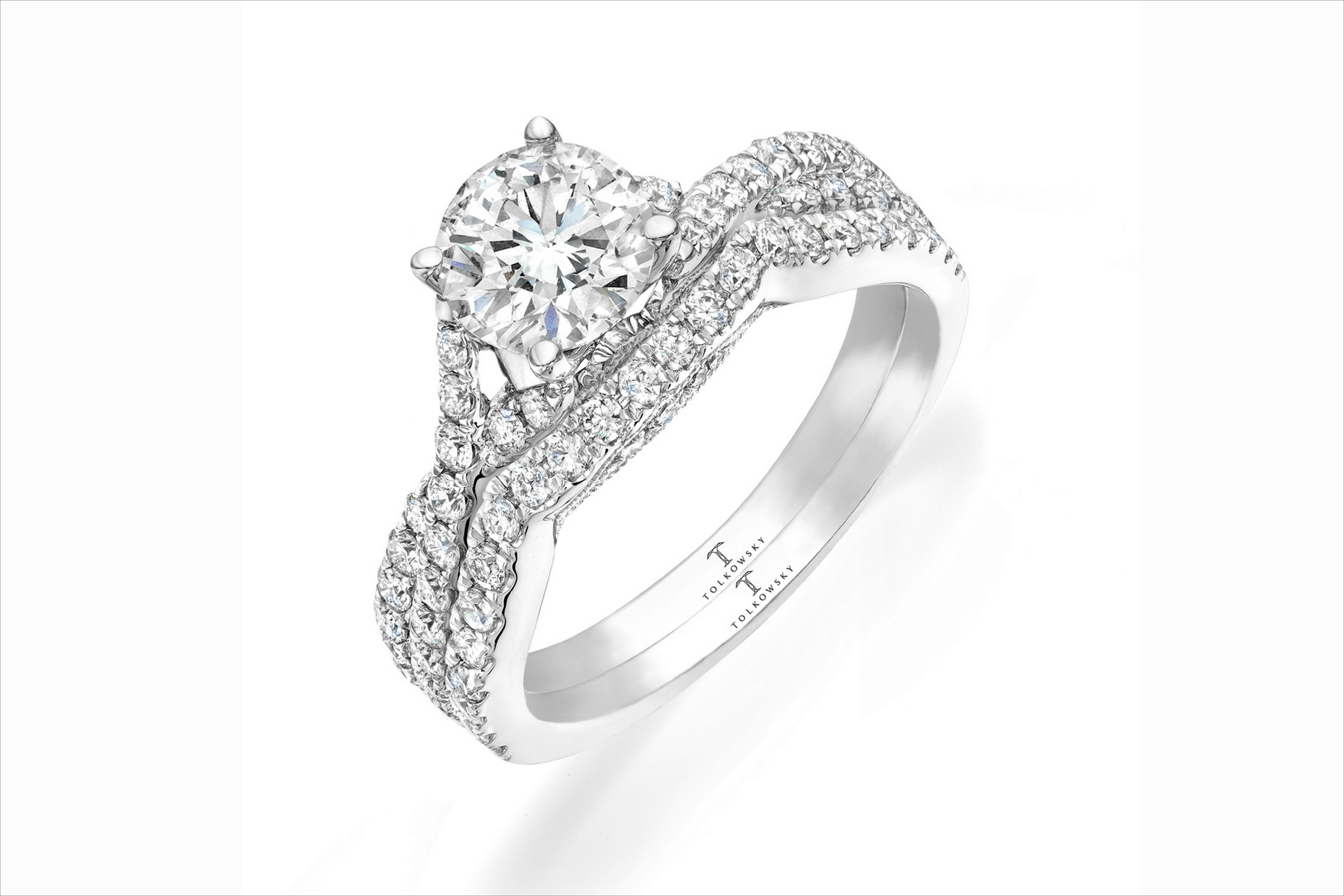 Tolkowsky Wedding Ring Bridal Set