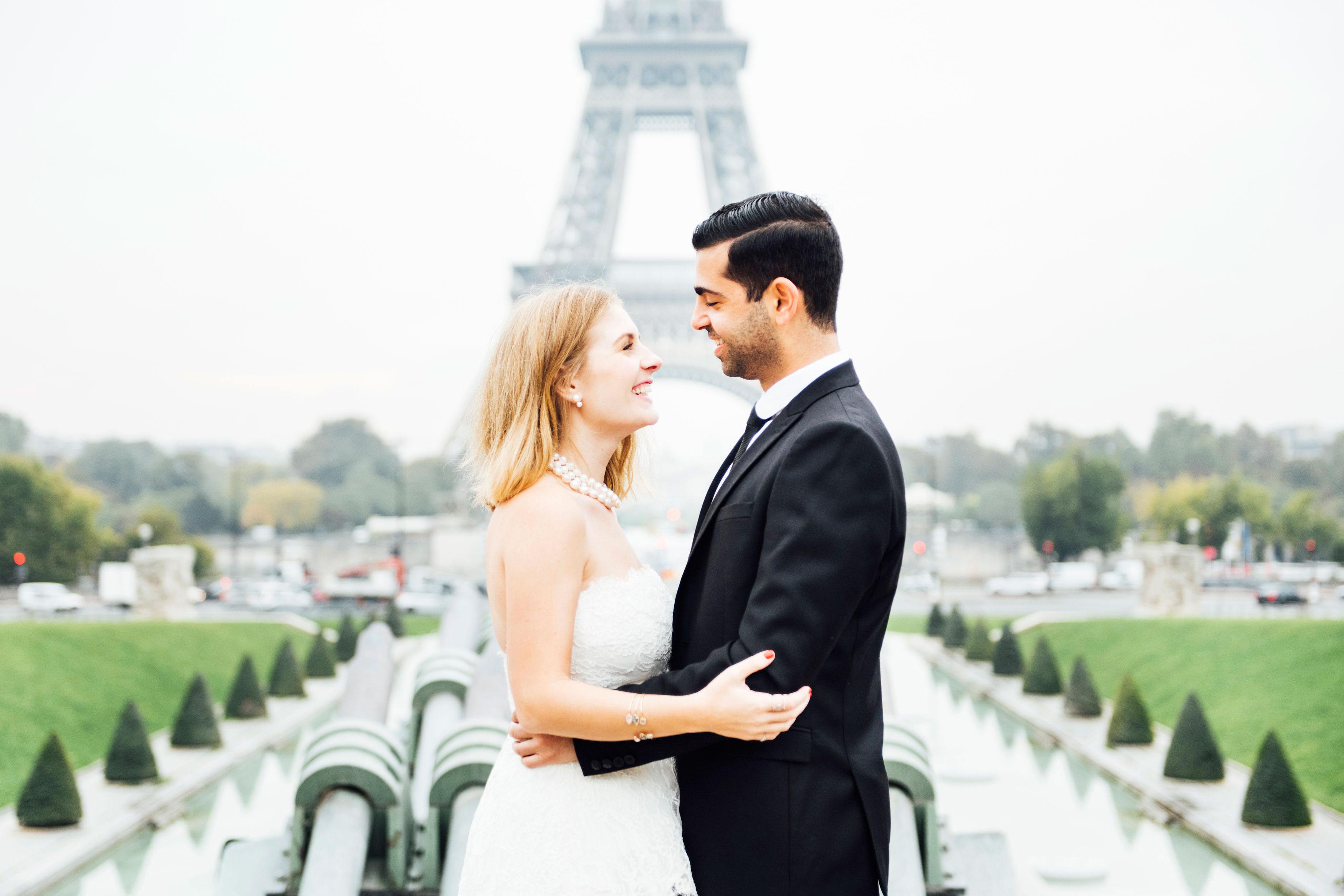 Sabrina Dahan Paris Engagement Shoot