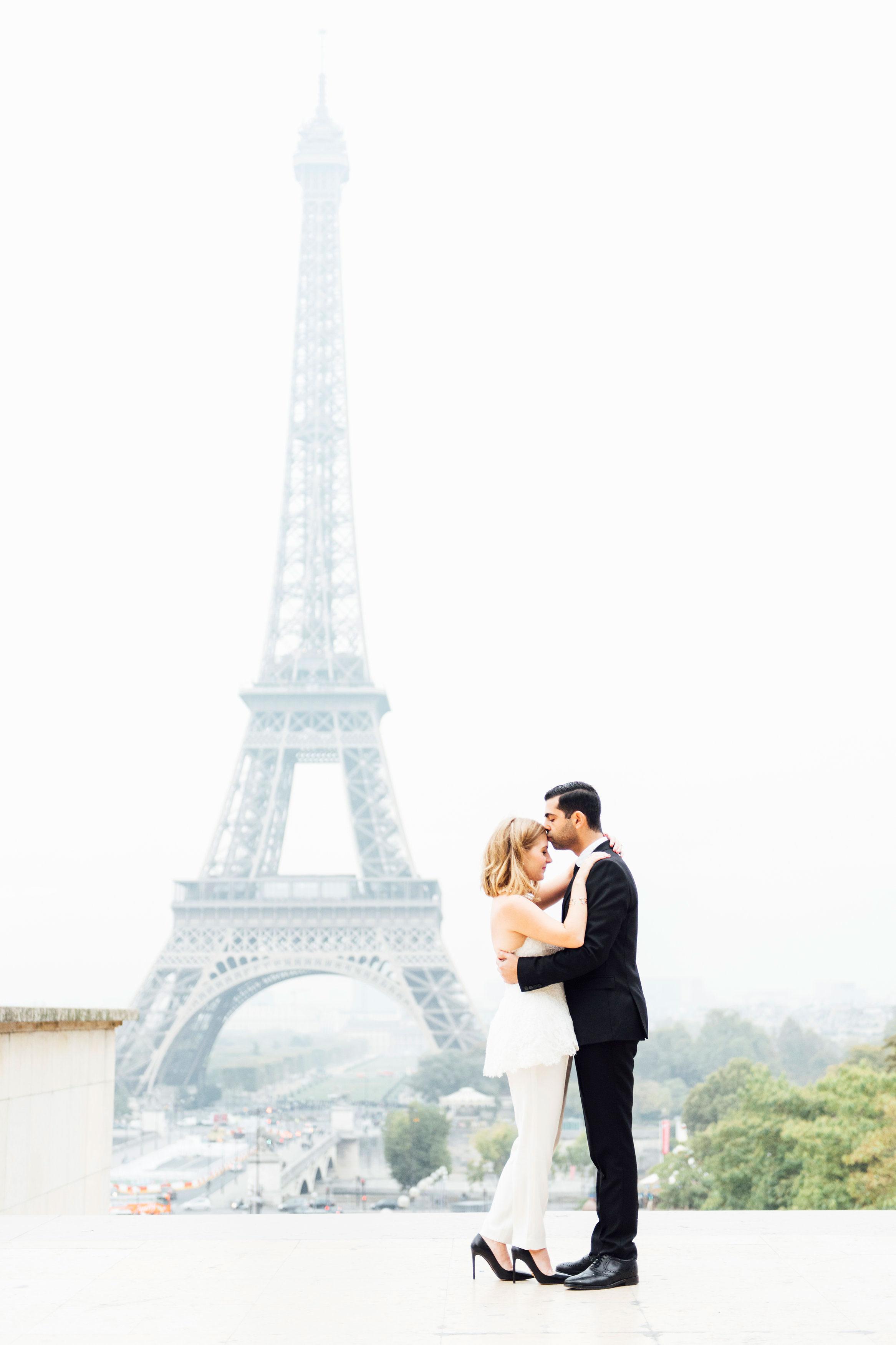 Sabrina Dahan engagement shoot Eiffel Tower
