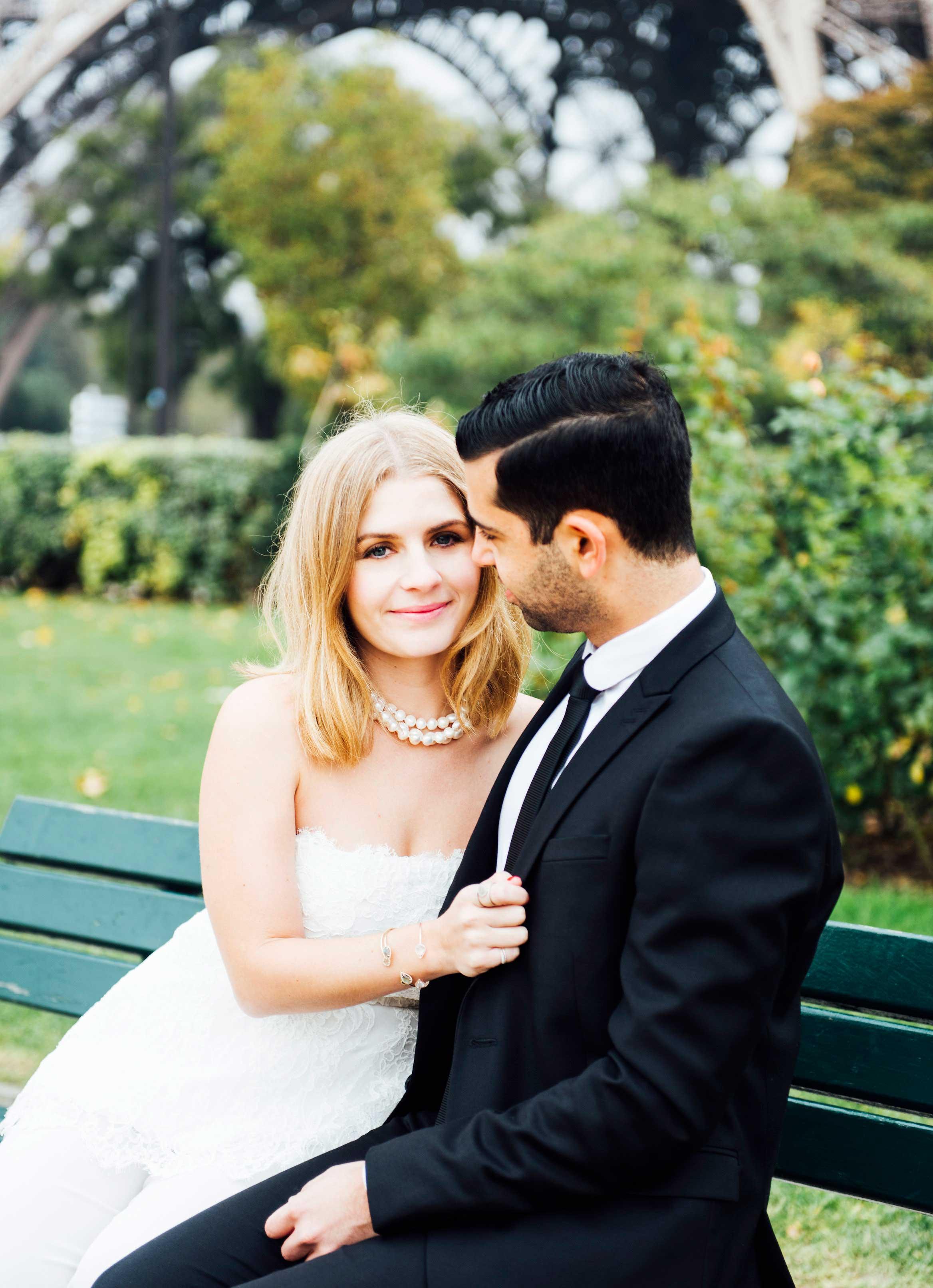 Sabrina Dahan Paris park engagement shoot