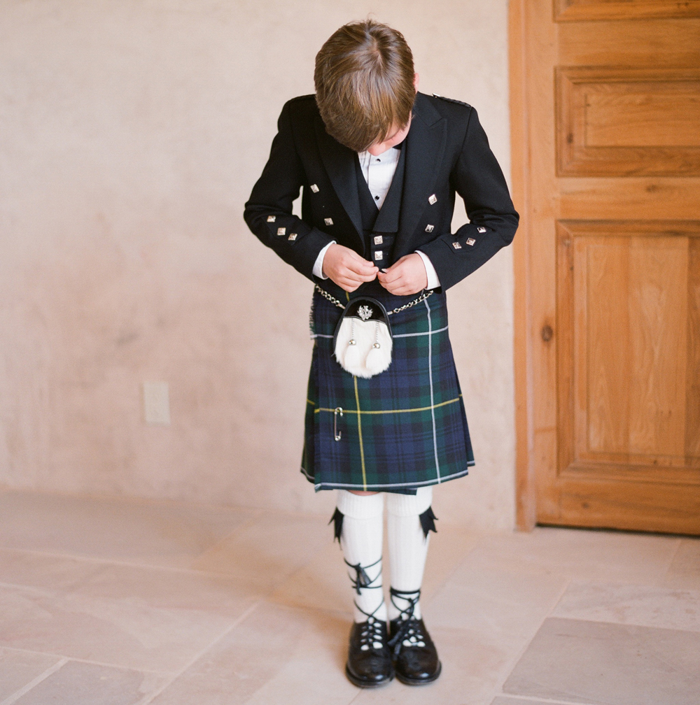 ring bearer scottish kilt