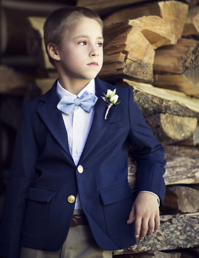 ring bearer blue jacket