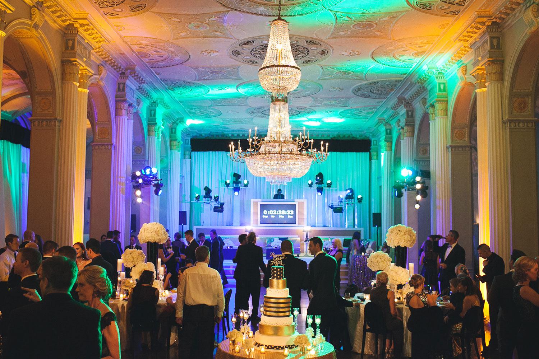 New Year's Eve wedding reception