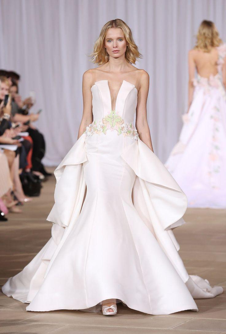 Ines Di Santo Bright wedding dress fall 2016