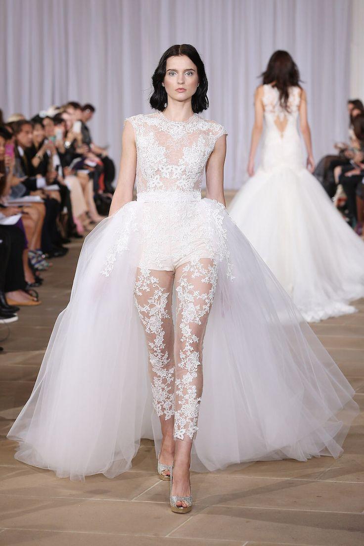 Ines Di Santo wedding dress with bodysuit and detachable skirt