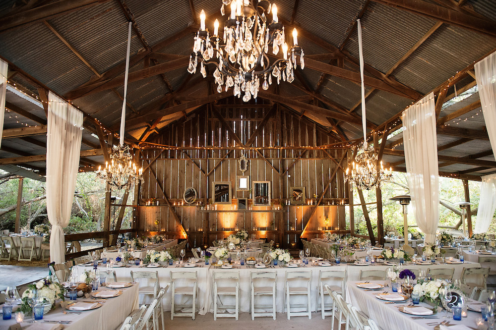 Beautiful barn wedding reception Melissa Claire Egan