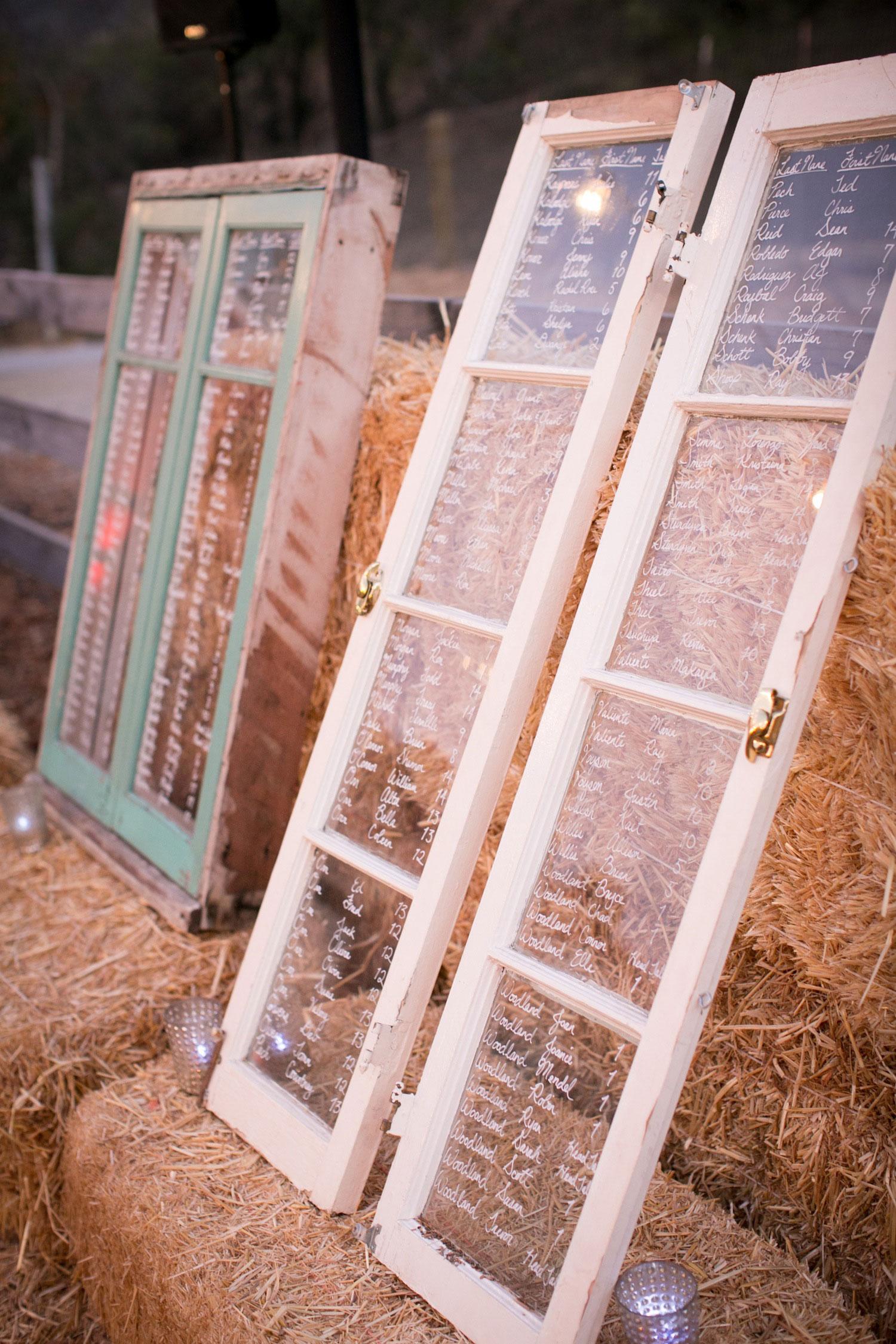 David Tutera wedding antique window seating chart
