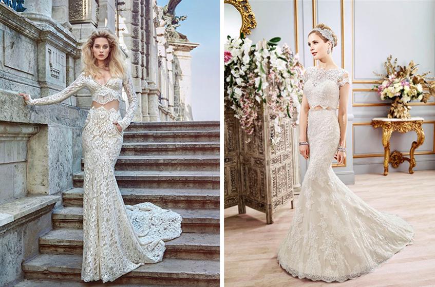 Galia Lahav and Val Stefani wedding dresses for Peta Murgatroyd