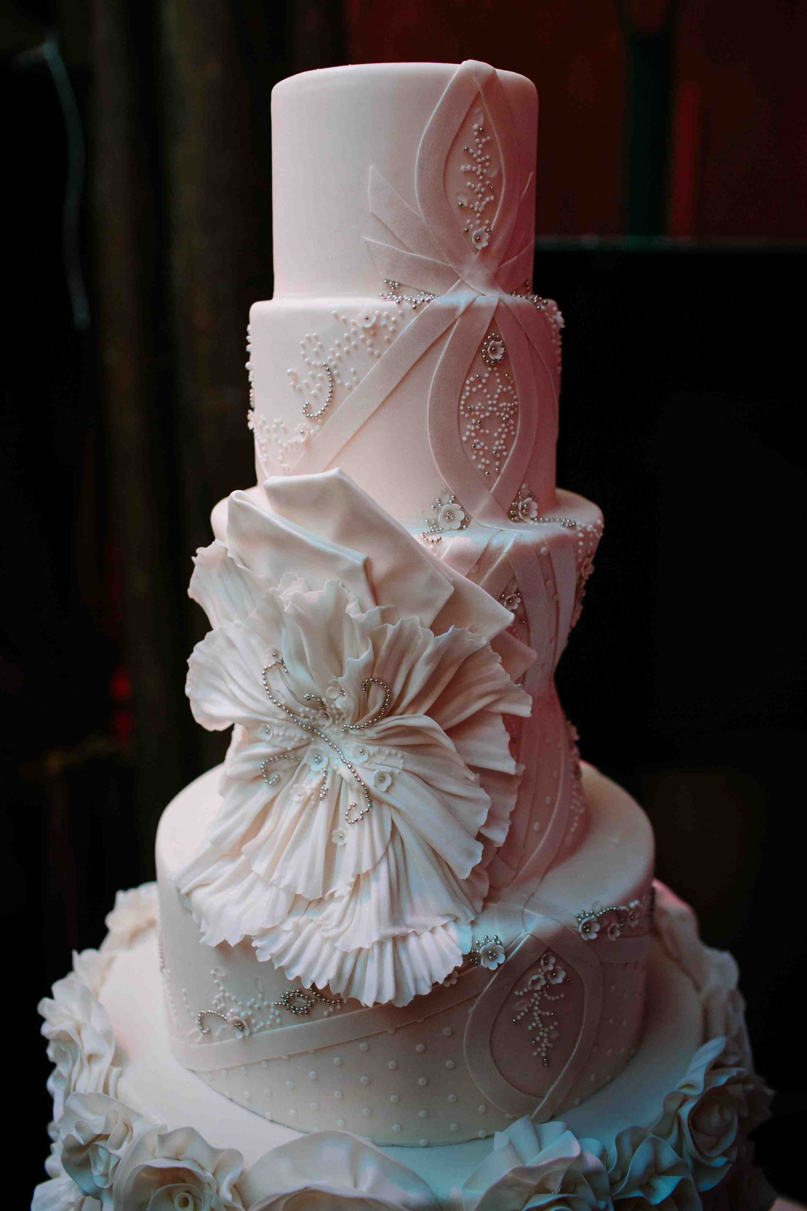 Wedding cake inspired by Matthew Christopher wedding dresses