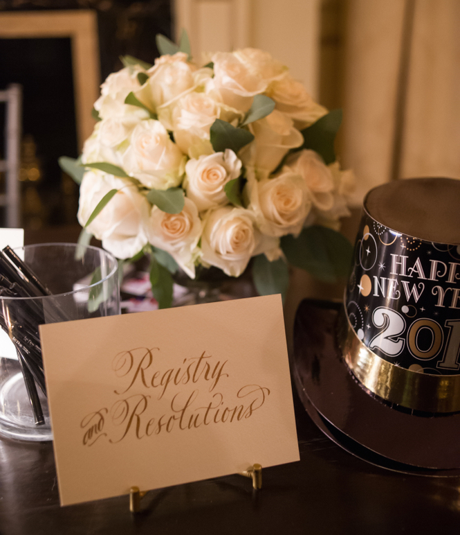 Wedding guest book new year's resolutions