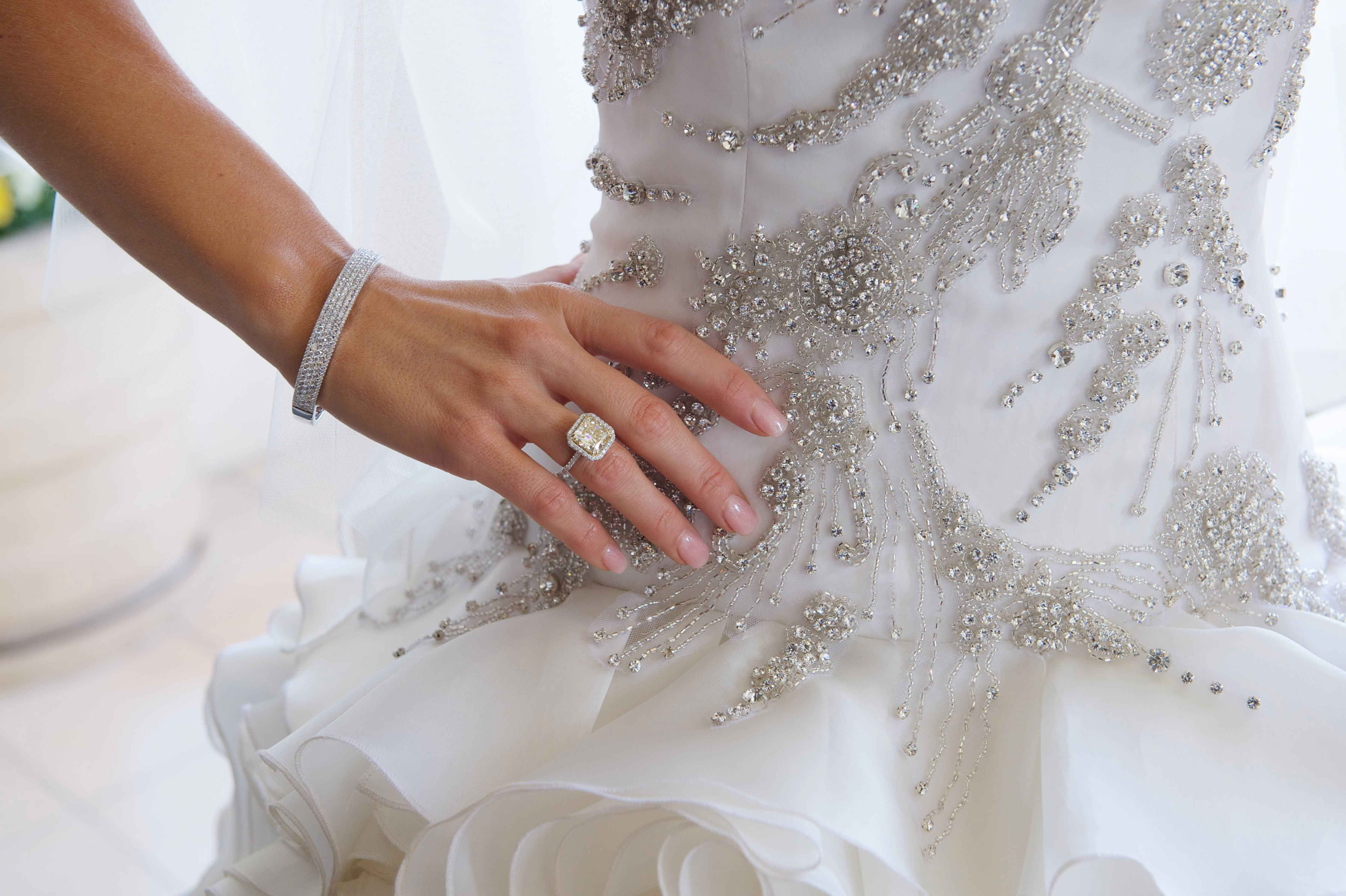 Joanna Krupa clear wedding day manicure