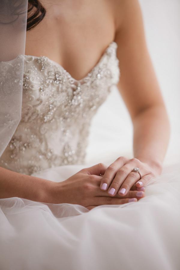 Bubblegum pink wedding manicure