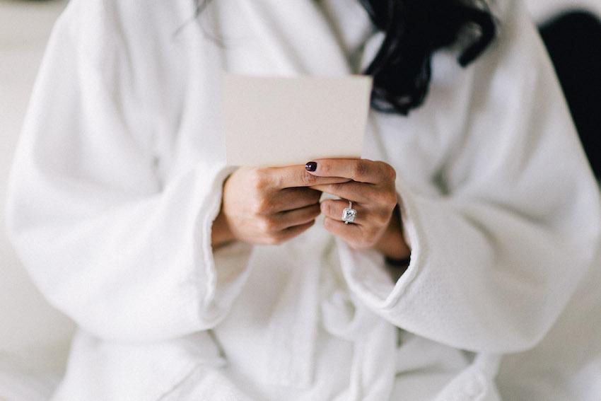 Black nails wedding day manicure
