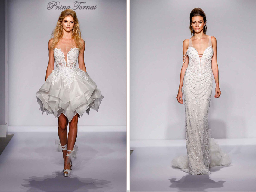 Edgy wedding dresses by Pnina Tornai for Kleinfeld Bridal
