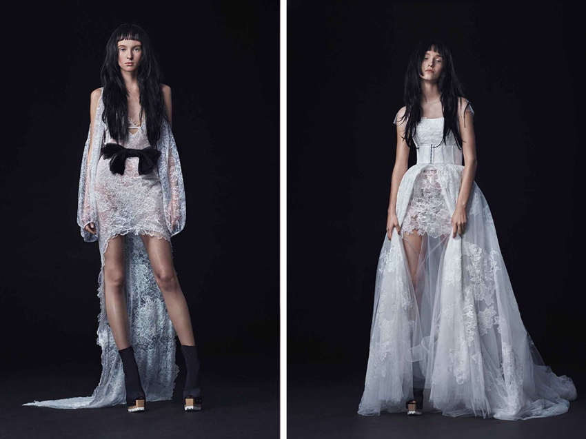 Edgy wedding dresses by Vera Wang Fall 2016