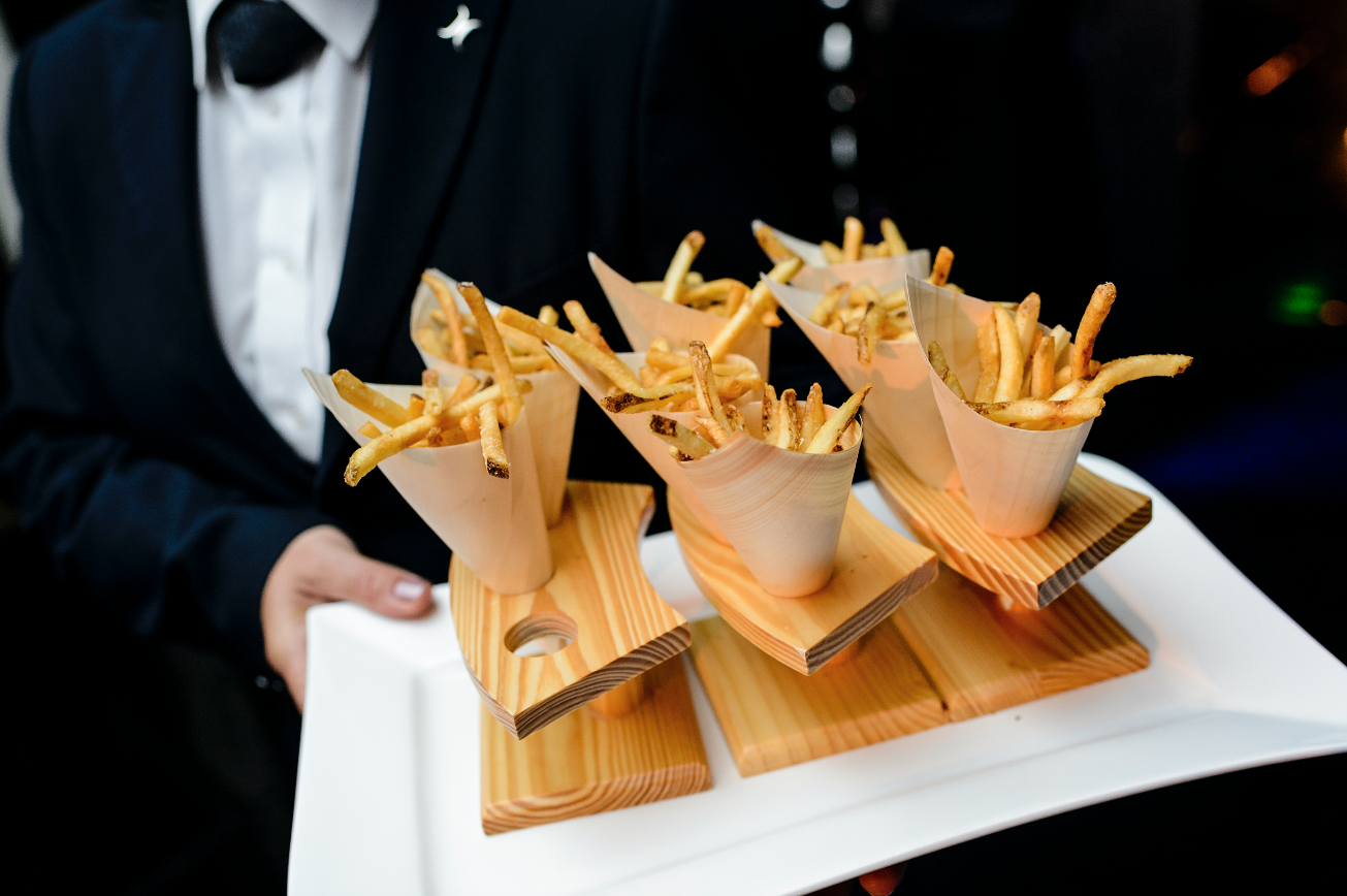 Wedding late-night snack french fries