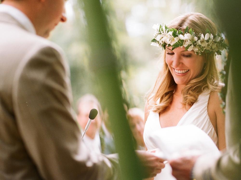 Destination wedding bridal flower crown