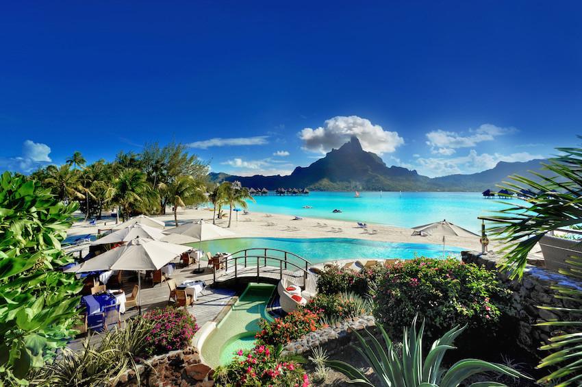 Le Meridien Bora Bora exterior shot