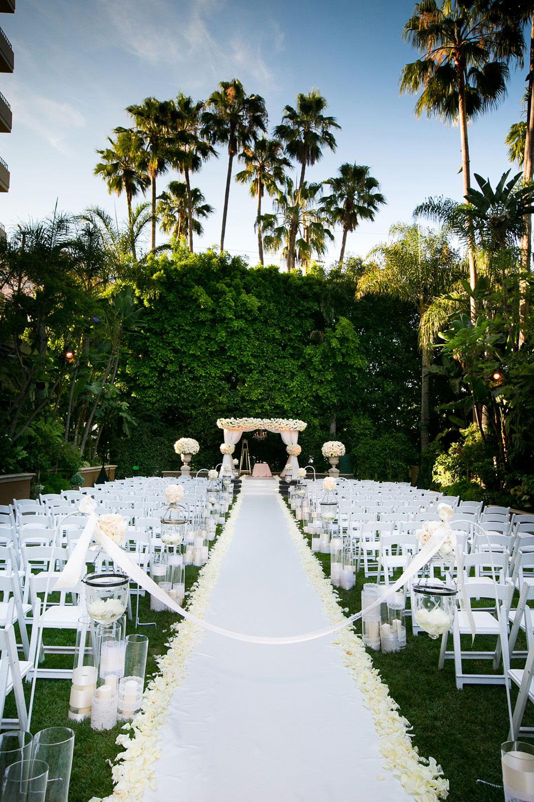 Beverly Hills outdoor garden wedding ceremony
