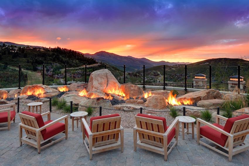 St Regis Deer Valley outdoor firepit