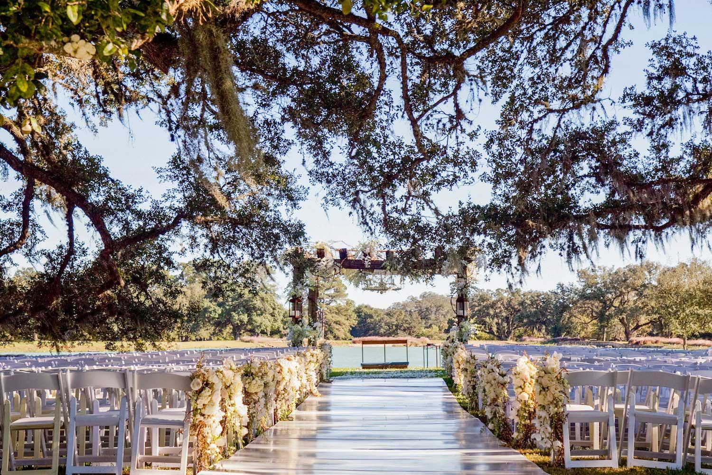 Lakefront wedding ceremony