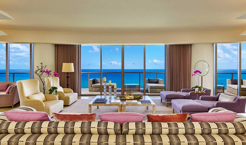 St. Regis Bal Harbour Presidential suite living room