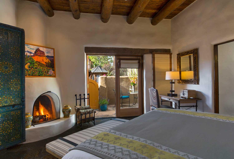 La Posada Santa Fe bedroom suite