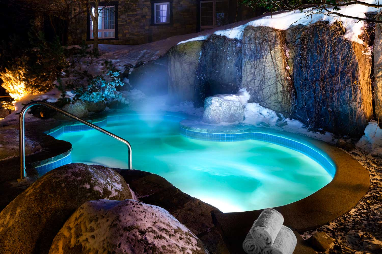 Westin Tremblant Quebec outdoor saltwater spa