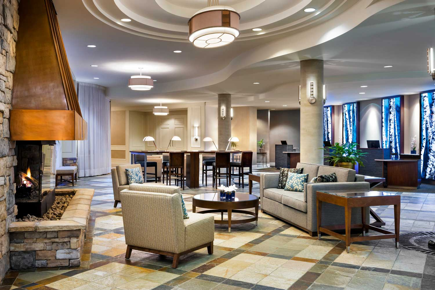 Westin Tremblant Quebec lobby and front desk
