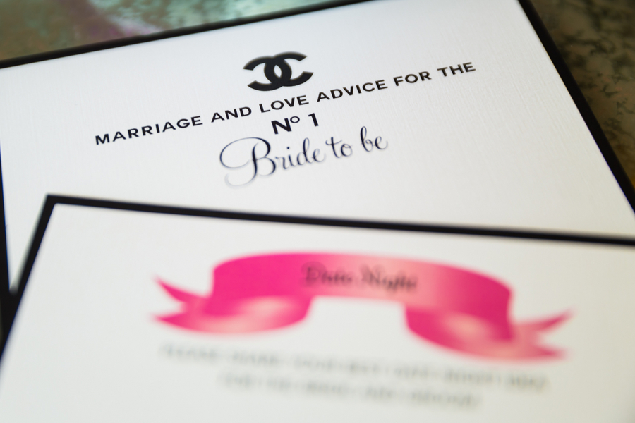 Advice card bridal shower activity