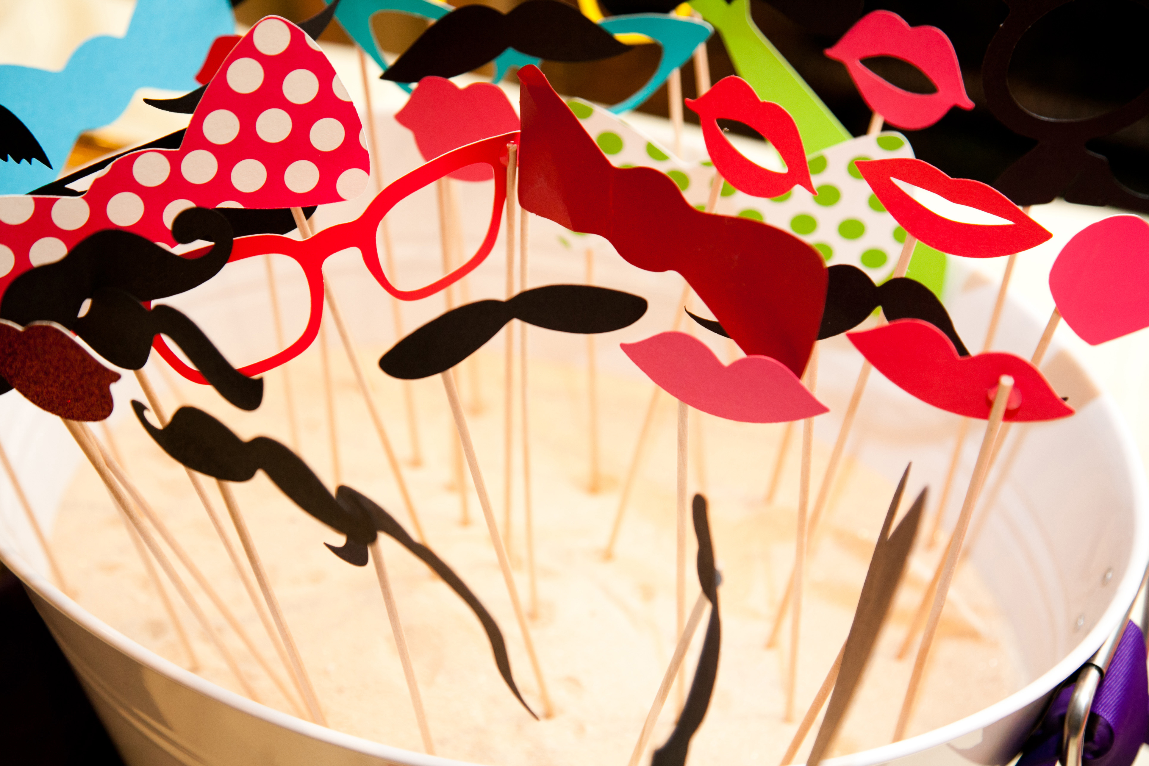 Photo booth props on sticks