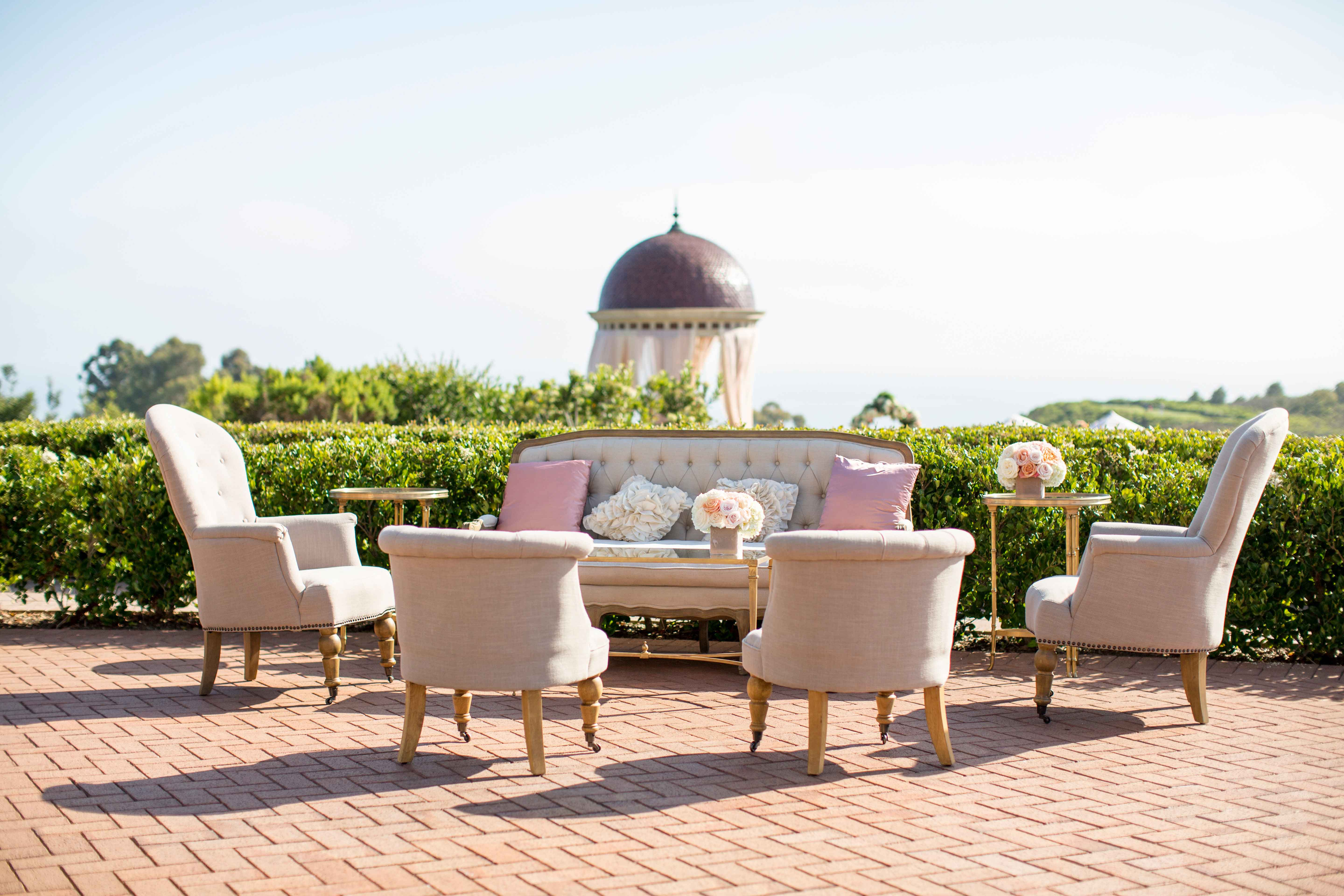Wedding lounge at The Resort at Pelican Hill