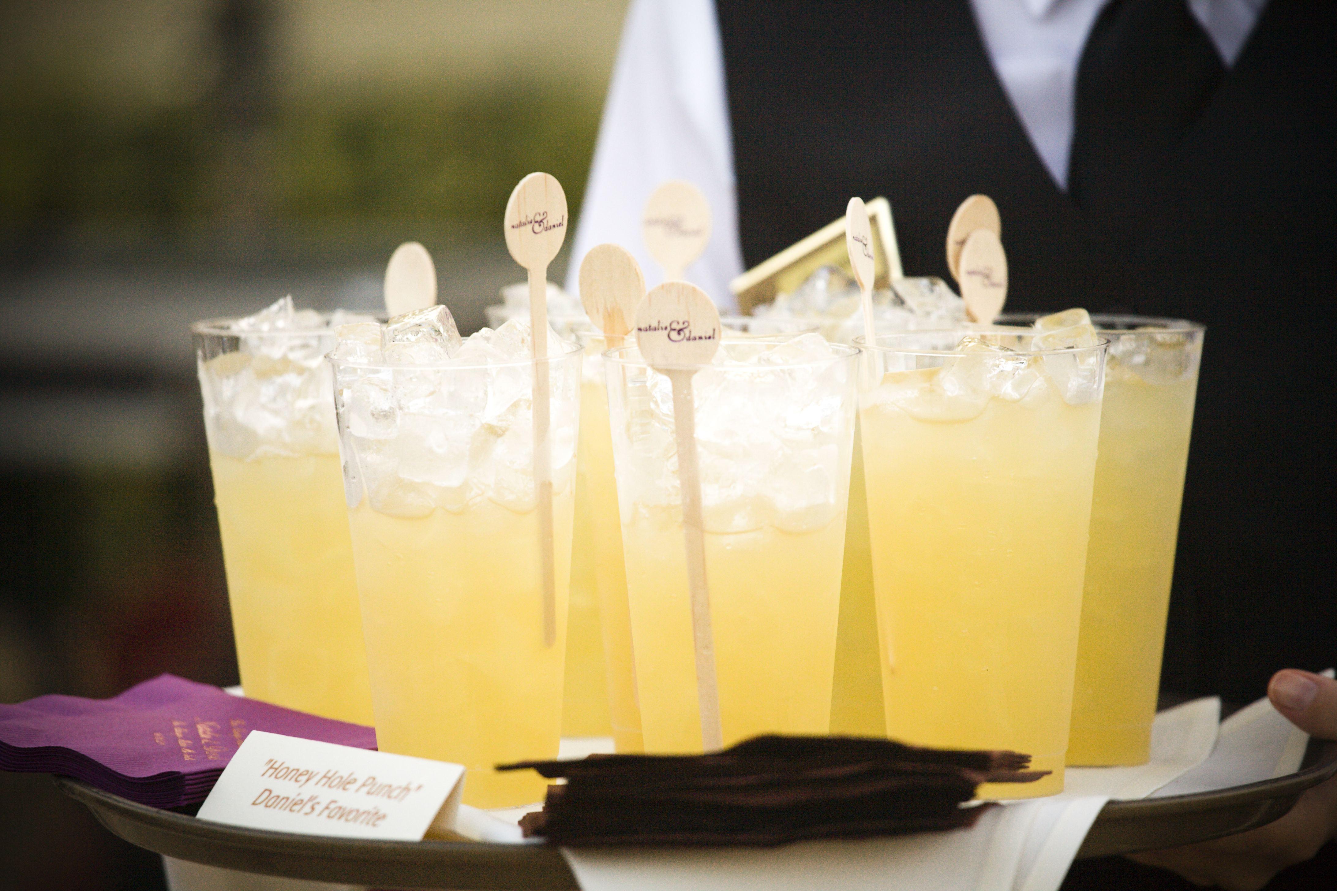 Custom wood wedding drink stirrers