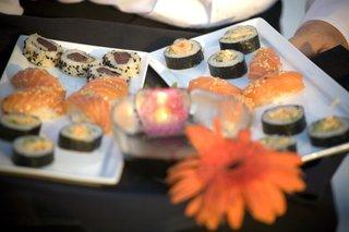 japanese-hors-doeuvres-with-orange-flower-garnish