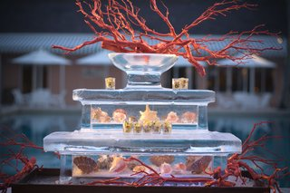 three-tier-ice-sculpture-filled-with-seashells