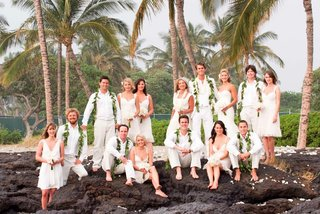 bridesmaids-and-groomsmen-in-ivory-clothes