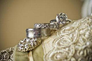 textured-band-diamond-band-and-solitaire-ring