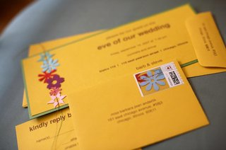 yellow-and-green-wedding-invites-and-envelope