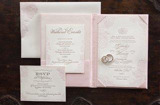 wedding-invite-with-letterpress-details-and-pink-flower-design