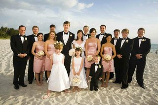 flower-girls-and-ring-bearers-with-pink-bridesmaids-and-tuxedo-groomsmen
