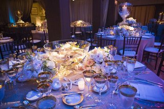 punch-bowl-wedding-decoration-with-flowers-and-floating-candles
