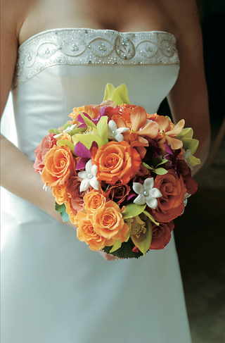 orange-and-pink-floral-bouquet