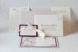 wedding-invitation-with-pink-ribbons-and-vibrant-print