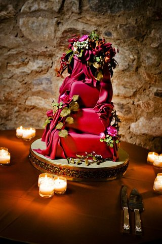 brightly-colored-wedding-cake-with-flower-decorations