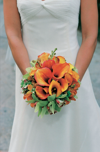 orange-calla-lily-wedding-flower-bouquet-with-orchid-blossoms